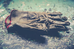 Worn gloves heavy industry hard work concept Royalty Free Stock Photo