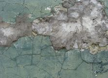 Worn green yellow grunge wall background Royalty Free Stock Photography