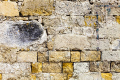 Worn grunge ruined surface bricks wall. Concrete material Royalty Free Stock Photography