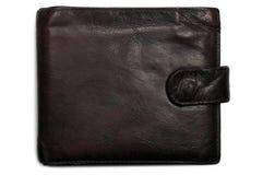 Worn grungy reddish black grunge leather wallet Royalty Free Stock Image