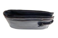 Worn grungy reddish black wallet closeup Stock Photography