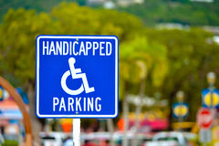 Worn handicapped parking sign Royalty Free Stock Photos