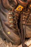 Worn Hiking Boots Royalty Free Stock Photography