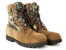 Worn hunting boots Royalty Free Stock Photos