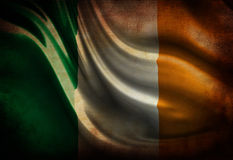 Worn irish flag Royalty Free Stock Image
