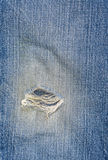 Worn jeans Stock Images