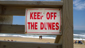 Worn Keep of the Dunes Sign Stock Image