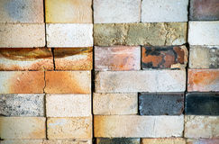 Worn Kiln Fire Bricks Texture Stock Images