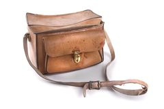 Worn Leather Bag Royalty Free Stock Photo