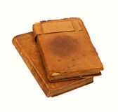 Worn Leather Books Royalty Free Stock Image