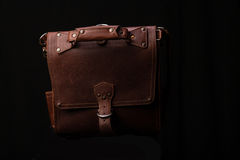 Worn Leather Briefcase Stock Photography