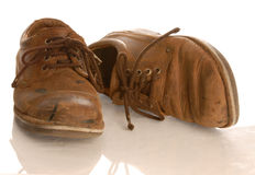 Worn leather shoes Stock Photos