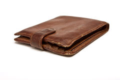 Worn Leather Wallet Stock Image