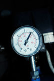 Worn Machine Pressure Gauge Royalty Free Stock Photography