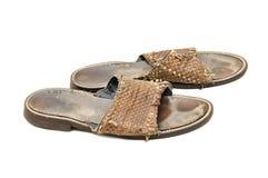 Worn man shoes Royalty Free Stock Image