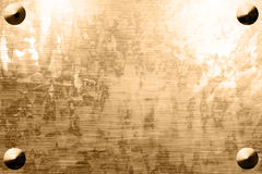 Worn metal plate Royalty Free Stock Photography