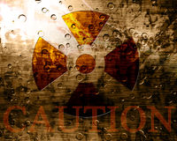 Worn nuclear sign Stock Image