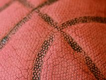 Worn Old Basketball Stock Photography