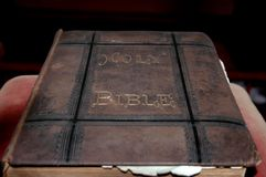 Worn old bible Stock Images