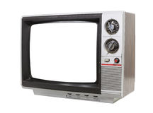 Worn Old Grungy Portable Television Royalty Free Stock Photography