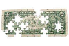 Worn One dollar bill backside Stock Photo