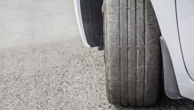 Free Worn Out And Damaged Car Tire. Stock Image - 123012571