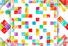 Worn out background. With squares vector illustration