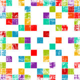 Worn out background. With squares stock illustration