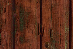 Worn out barn wood. Red & green distressed barn wood, great for background Royalty Free Stock Photo