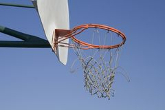 Worn out basketball net Stock Photos