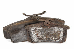 Worn out brake pads Stock Photography