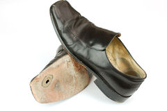 Worn out business shoes Stock Photography