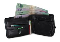 Worn Out Canadian Wallet Stock Image