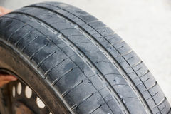 Worn out car tire tread Royalty Free Stock Images