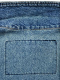 Worn-out Denim Jacket Close-Up Stock Image