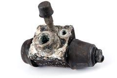 Worn out brake cylinder Royalty Free Stock Image