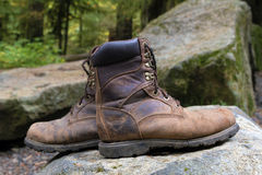 Worn Out Hiking Boots Royalty Free Stock Photo