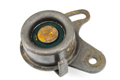Worn out idler pulley stock photos