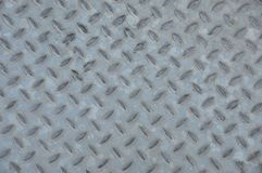 Worn out Iron diamond plate Royalty Free Stock Photo
