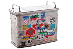 Worn-out luggage Stock Photography