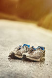 Worn-out mens running shoes Royalty Free Stock Images