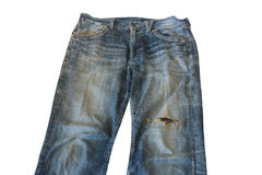 Worn Out Old Jeans Stock Photo