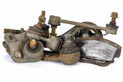 Worn out suspension auto parts Stock Photo