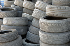 Worn out tires Royalty Free Stock Photo