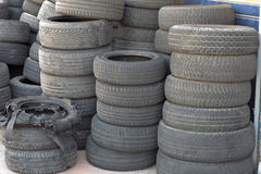 Worn out tires Stock Images
