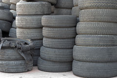 Worn out tires Royalty Free Stock Photography