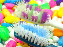 Worn out toothbrush Stock Photography