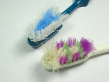 Worn out toothbrush Royalty Free Stock Photography