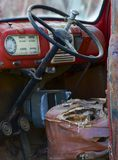 worn out truck interior Stock Photos