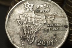 Two rupee coin royalty free stock photo